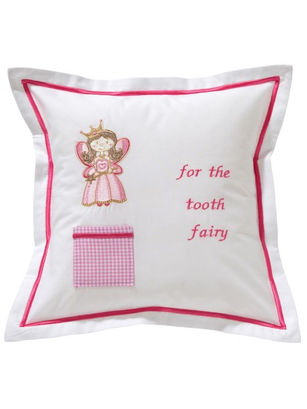 Tooth Fairy Pillow Cover, Happy Fairy (Pink) - DG131-HFPK