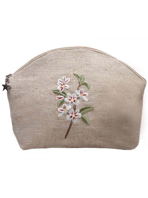 apple blossom large cosmetic bag