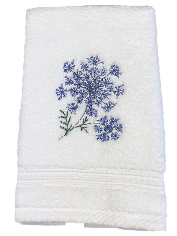 queen anne lace terry towel