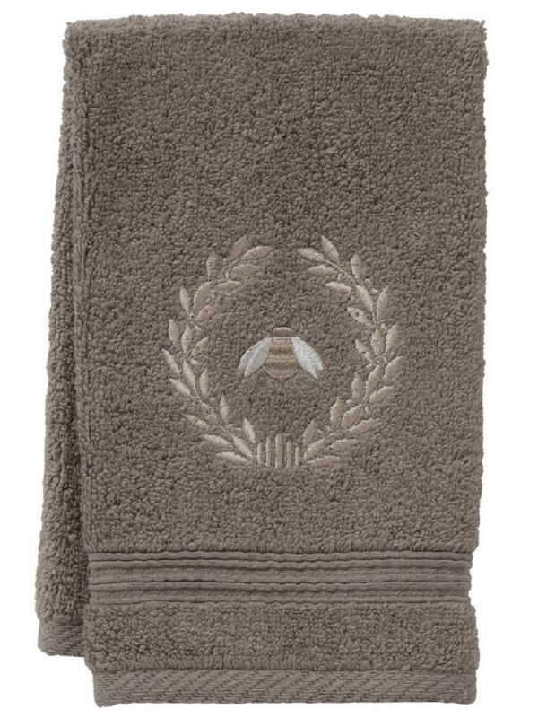 dark taupe guest towel