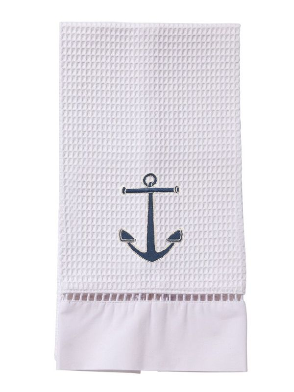 Guest Towel, Waffle Weave, Anchor (Navy) - DG02-ANNA**