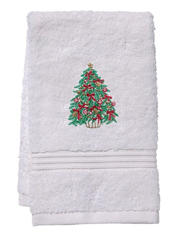 Guest Towel, Terry, Christmas Tree (Green / Red) - DG70-CTGR**