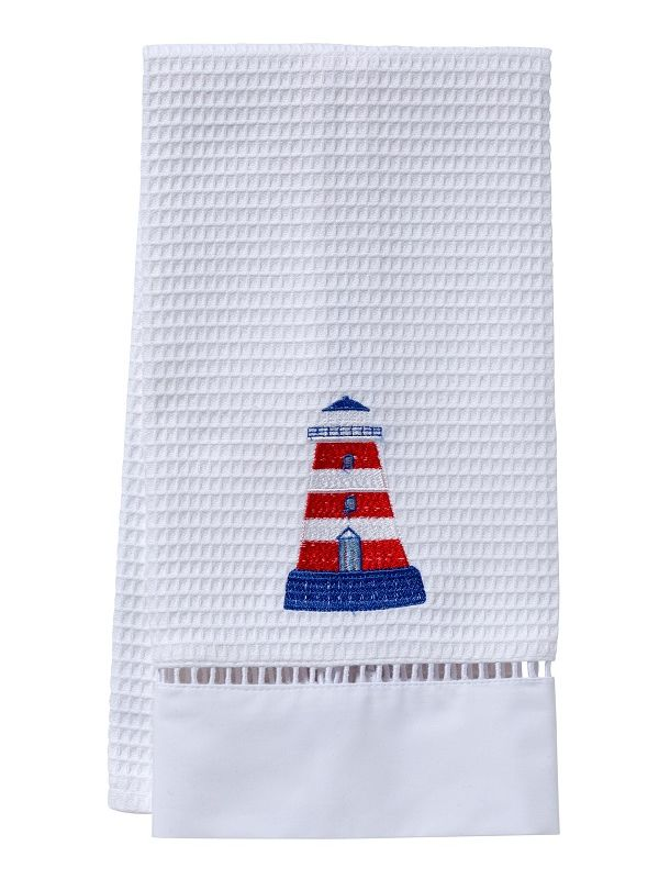 Guest Towel, Waffle Weave, Lighthouse (Red/White) - DG02-LHRW**