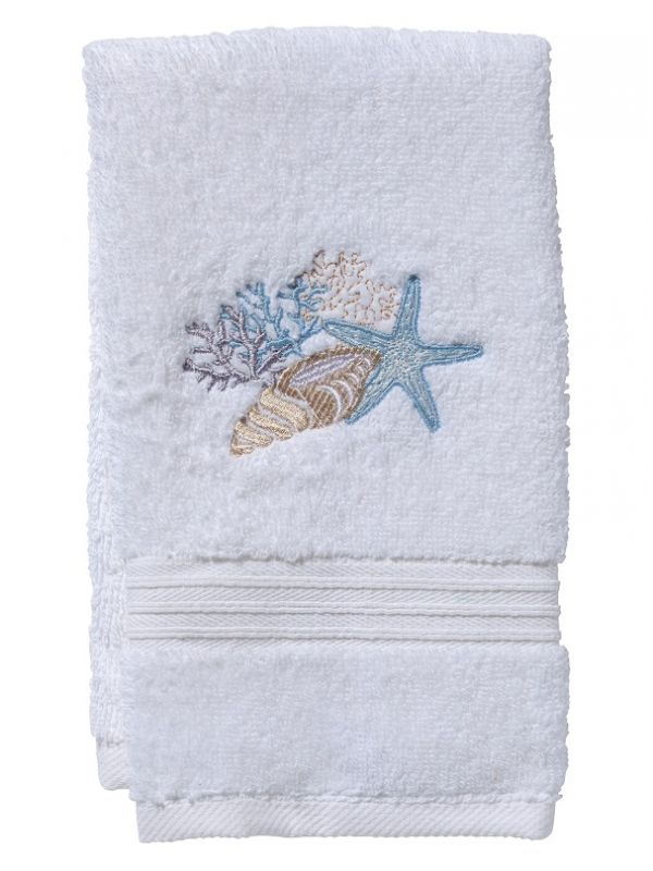Guest Towel, Terry, Shell Collection (Duck Egg Blue) - DG70-SCHDE**