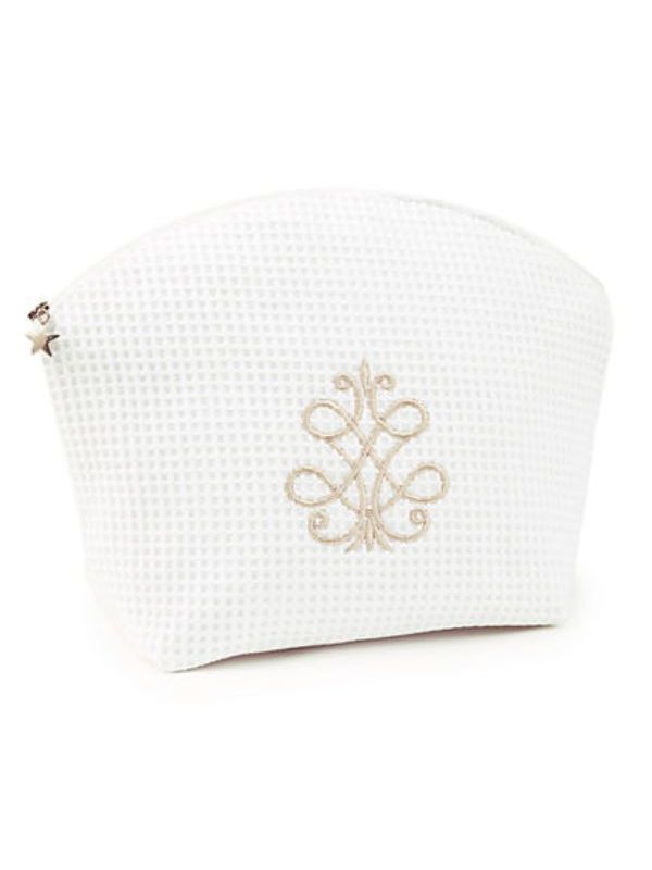 Cosmetic Bag (Large), French Scroll (Beige) - DG07-FSBE