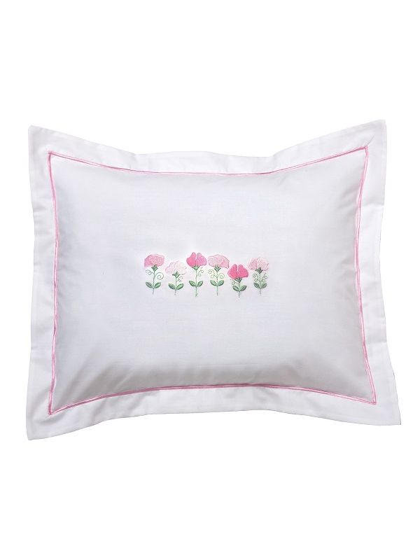 Boudoir Pillow Cover, Row of Sweet Peas (Pink) - DG78-RSPPK**