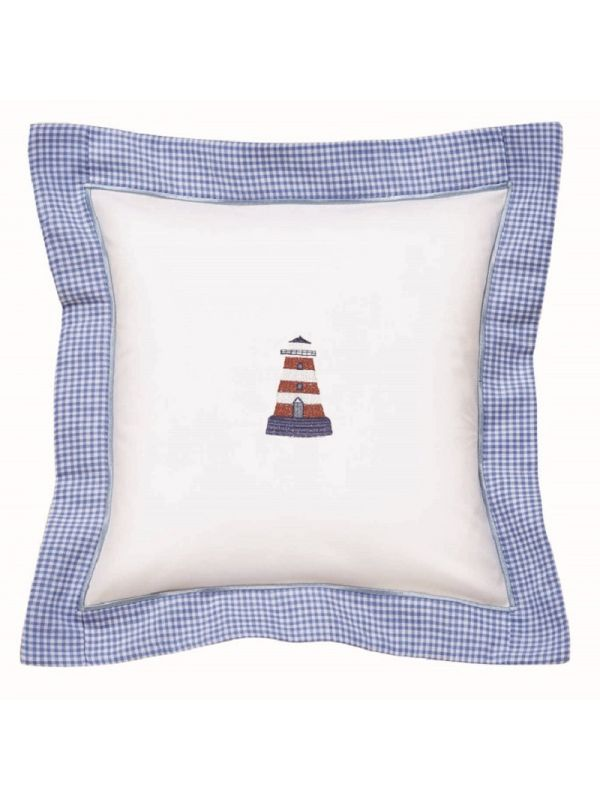 Baby Pillow Cover, Lighthouse (Red/White) - DG136-LHRW
