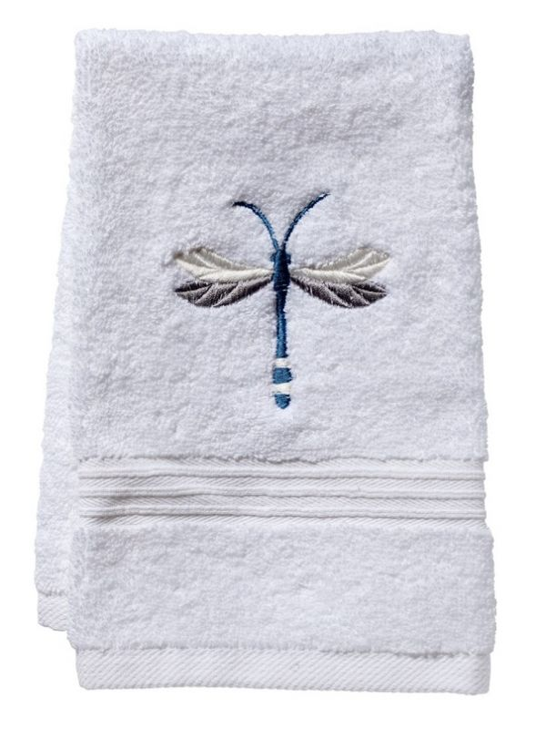 Guest Towel, Terry, Twilight Dragonfly (Pewter) - DG70-TDPW