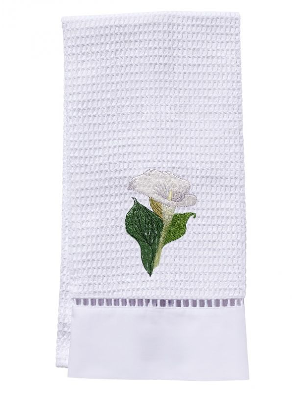 Guest Towel, Waffle Weave, Calla Lily (White) - DG02-CALWH