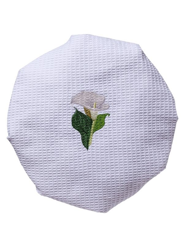 Shower Cap, Waffle Weave, Calla Lily (White) - DG09-CALWH