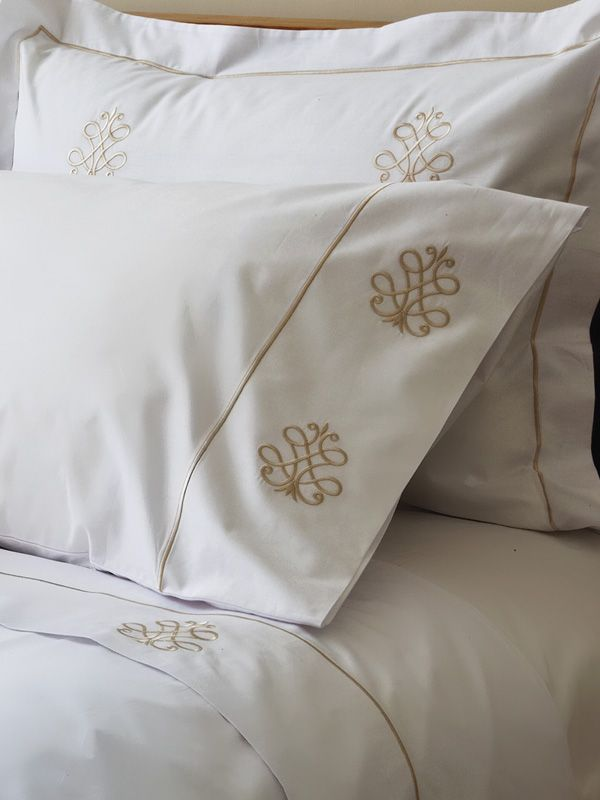 Bed Pillow Cover (Standard) - Embroidered
