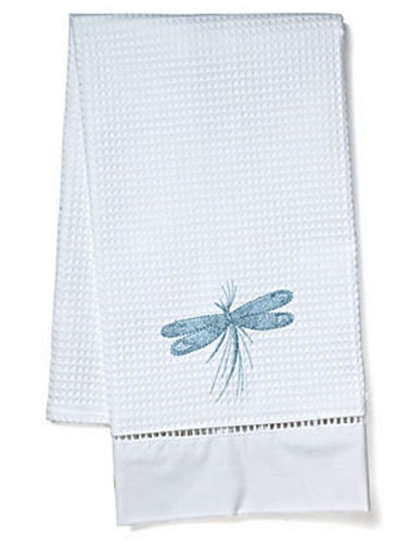 Guest Towel, Waffle Weave, Classic Dragonfly (Duck Egg Blue) - DG02-CDDE