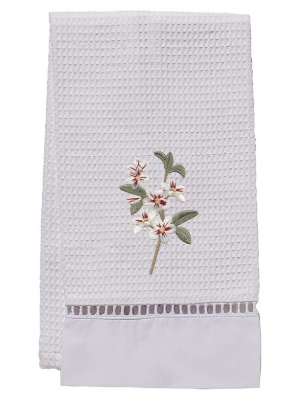 Guest Towel, Waffle Weave, Apple Blossom (White) - DG02-ABWH**