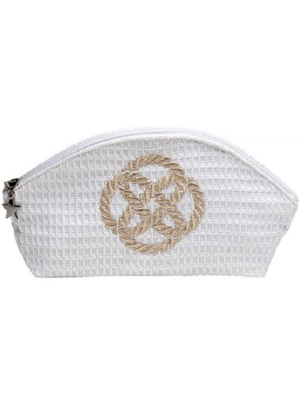 Cosmetic Bag (Small), Sailor's Knot (Beige) - DG10-SKNBE