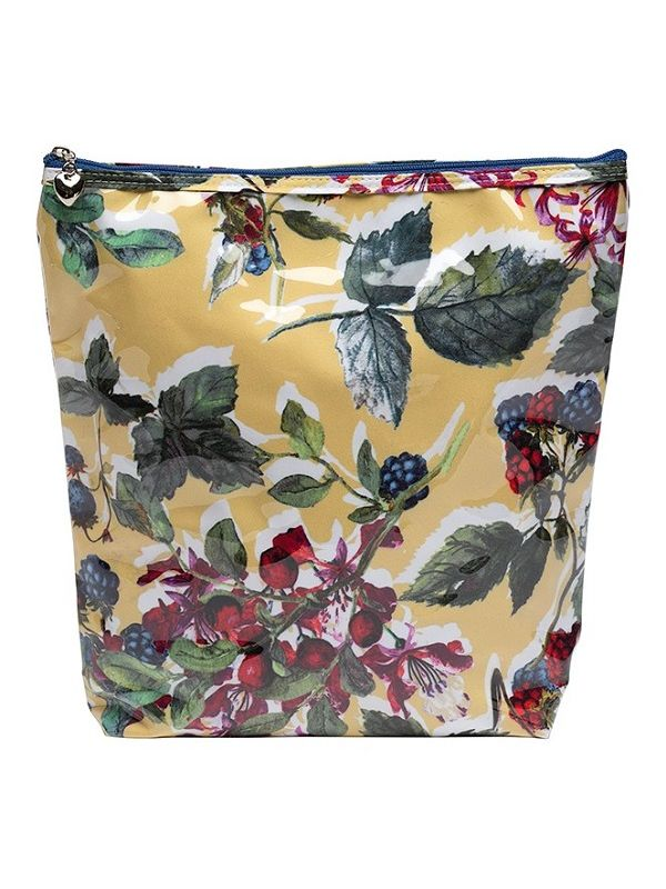 Cosmetic Bag (Large), Berry (Floral) - DN302-BFL