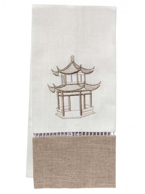 Guest Towel, Combo Linens, Pagoda (Beige) - DG49-PAGBE