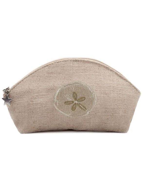 Cosmetic Bag, Natural Linen (Small), Sand Dollar (Beige) - DG38-SDBE**