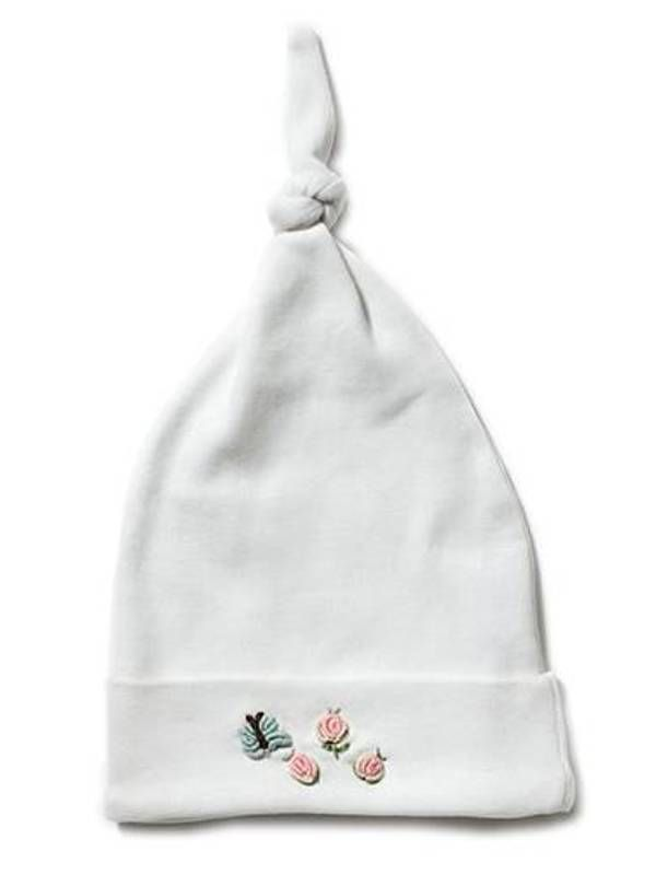 Knotted Hat, Rosebuds & Butterfly (Pink) - RW37-RABF**