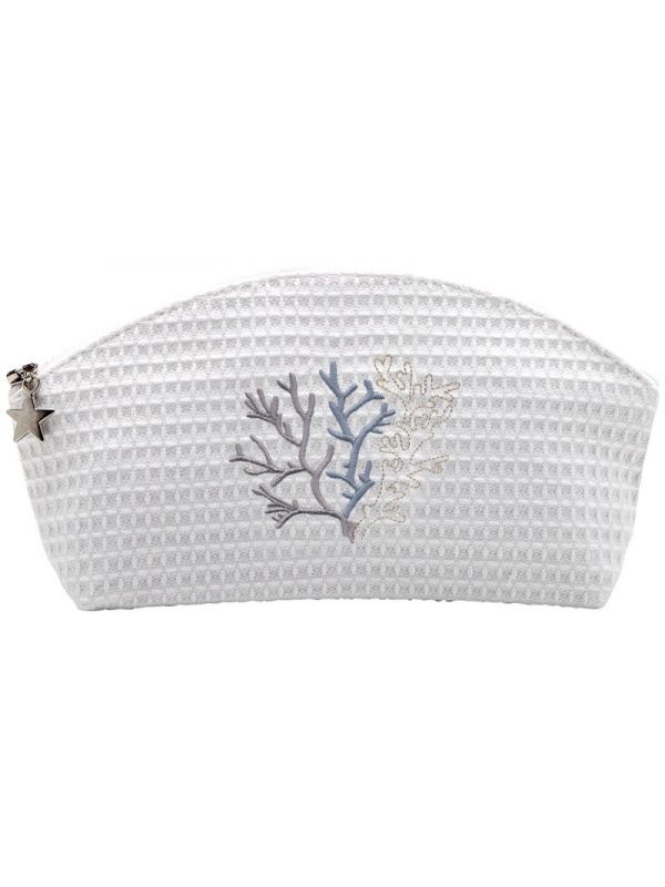Cosmetic Bag (Small), Coral (Duck Egg Blue) - DG10-CLDE
