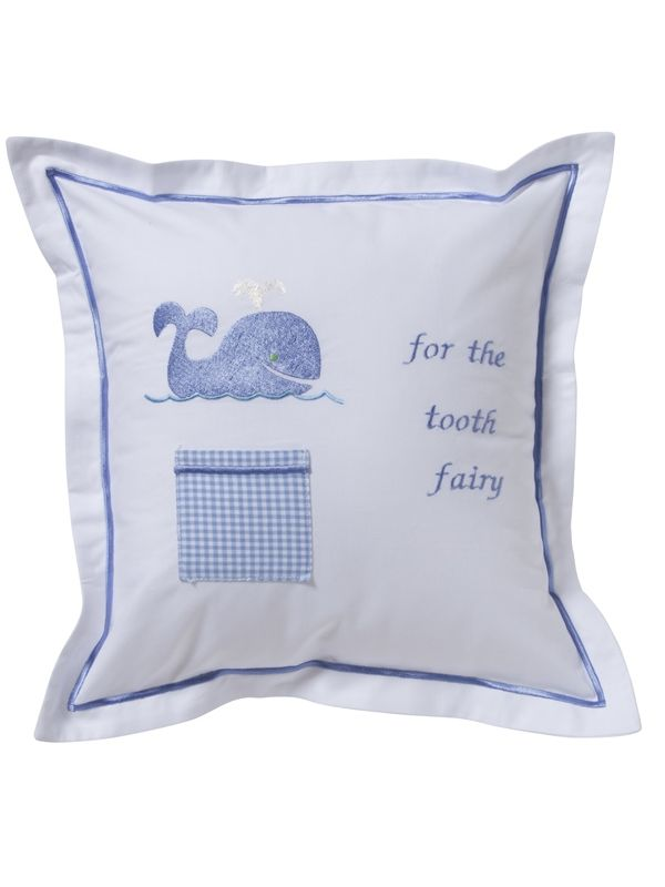 Tooth Fairy Pillow Cover, Whale (Blue) - DG131-WB