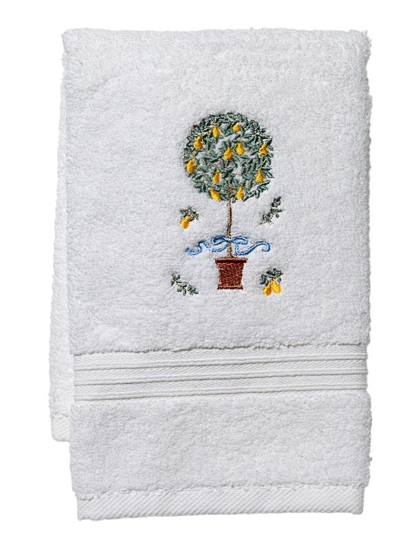 Guest Towel, Terry, Pear Topiary Tree (Yellow) - DG70-PTTY