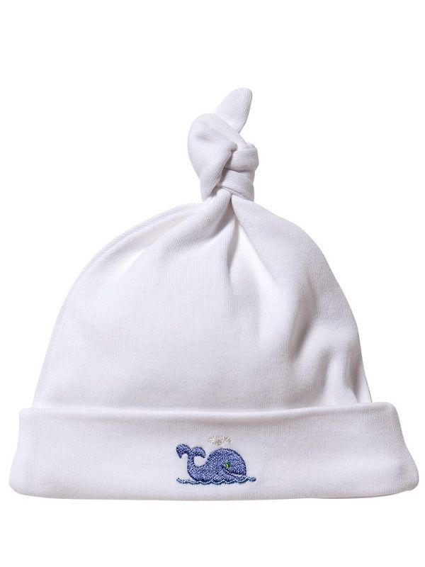 Knotted Hat, Whale (Blue) -RW37-WB**