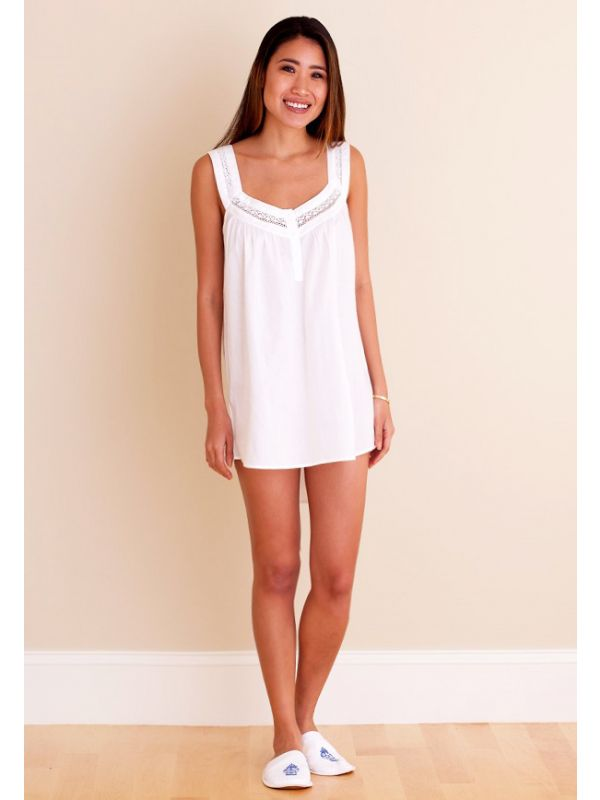 Charlotte White Cotton Nightgown ** - EL270