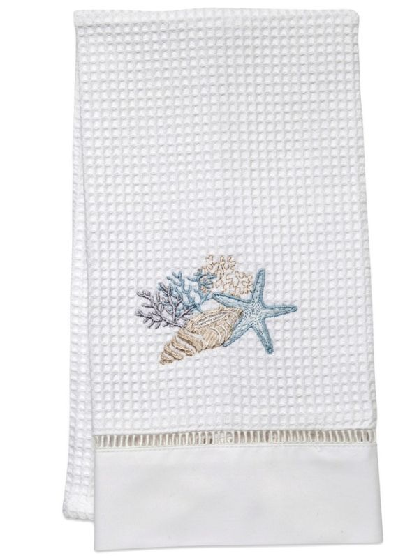 Guest Towel, Waffle Weave, Shell Collection (Duck Egg Blue) - DG02-SCHDE**