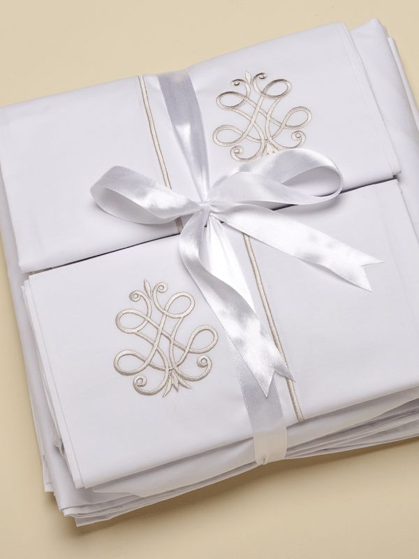 Flat Sheet (Twin) - 4 Embroideries