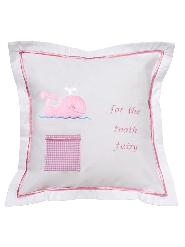 Tooth Fairy Pillow Cover, Whale (Pink) - DG131-WP**