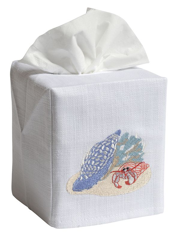 DG17-BCH Tissue Box Cover, Linen Cotton - The Beach