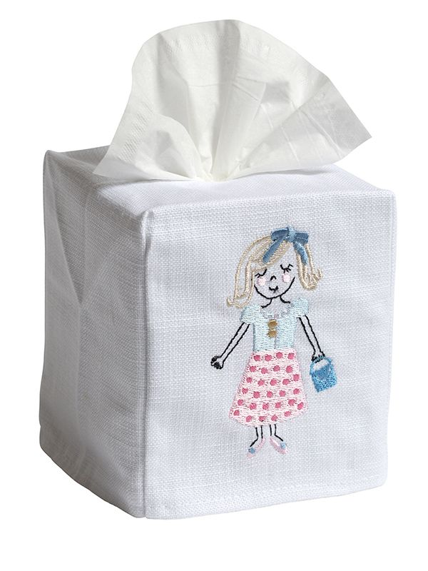 Tissue Box Cover, Bestie (Blonde) - DG17-BESTBD
