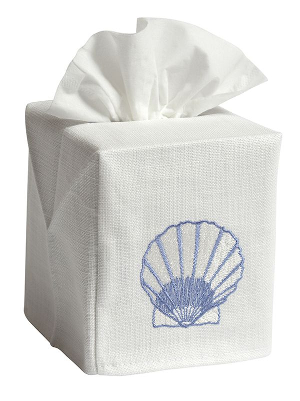 DG17-SCBL** Tissue Box Cover - Scallop (Blue)