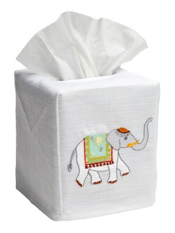charming elephant tissue box cover