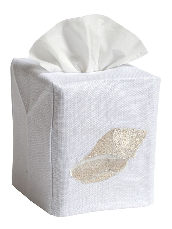 DG17-CCHBE Tissue Box Cover - Conch (Beige)