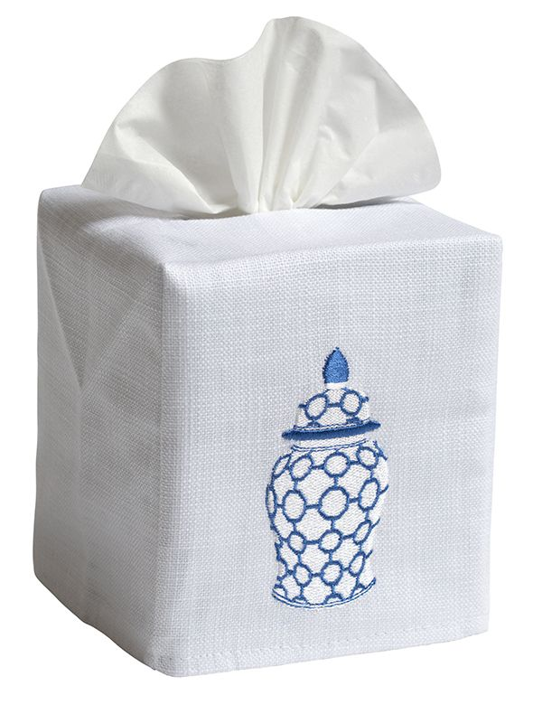 ginger jar links tissue box cover jacaranda living