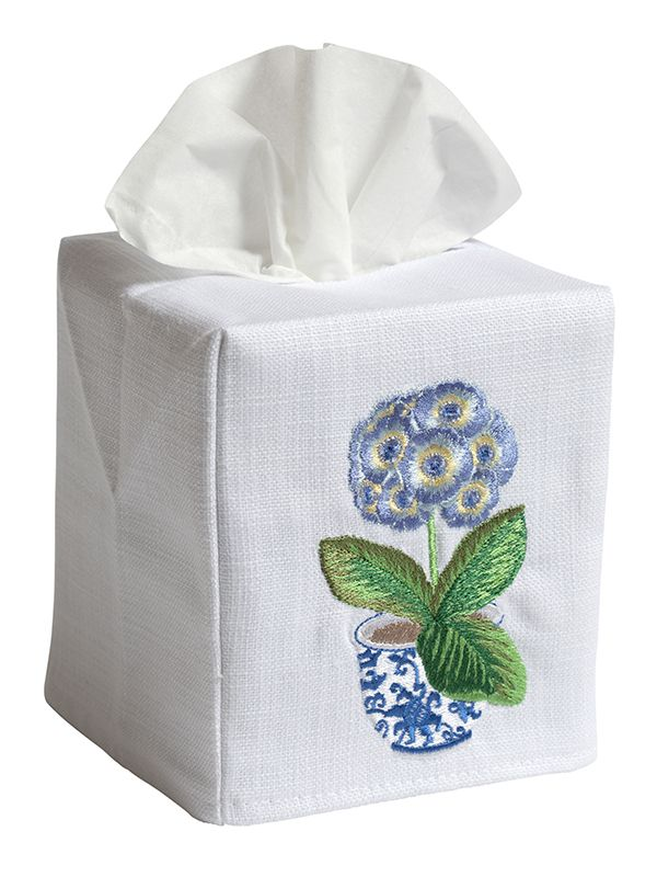 primrose blue tissue box cover