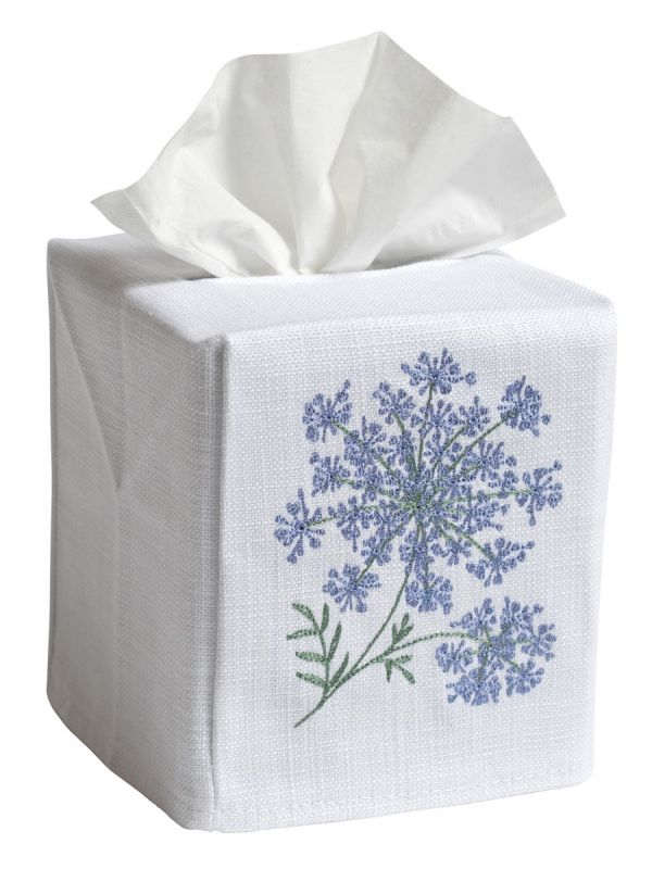 queen anne lace tissue box cover