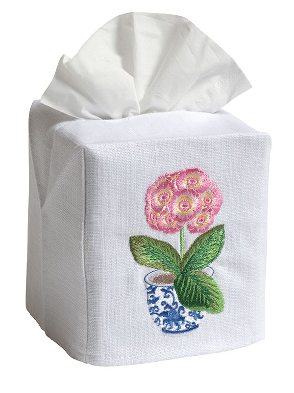 DG17-PPPK Tissue Box Cover - Potted Primrose (Pink)