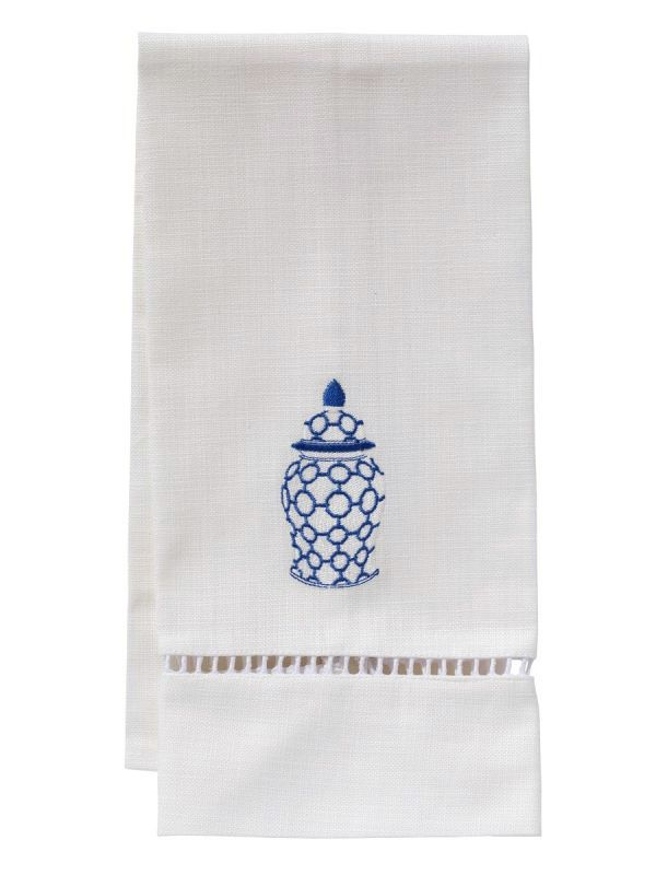 ginger jar links guest towel