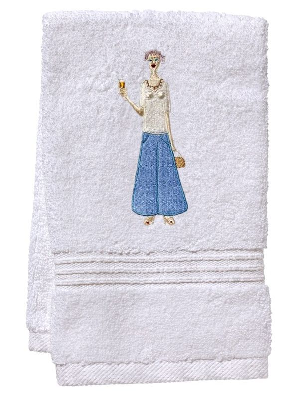 DG70-CHLBL Guest Towel, Terry - Champagne Lady (Blue)