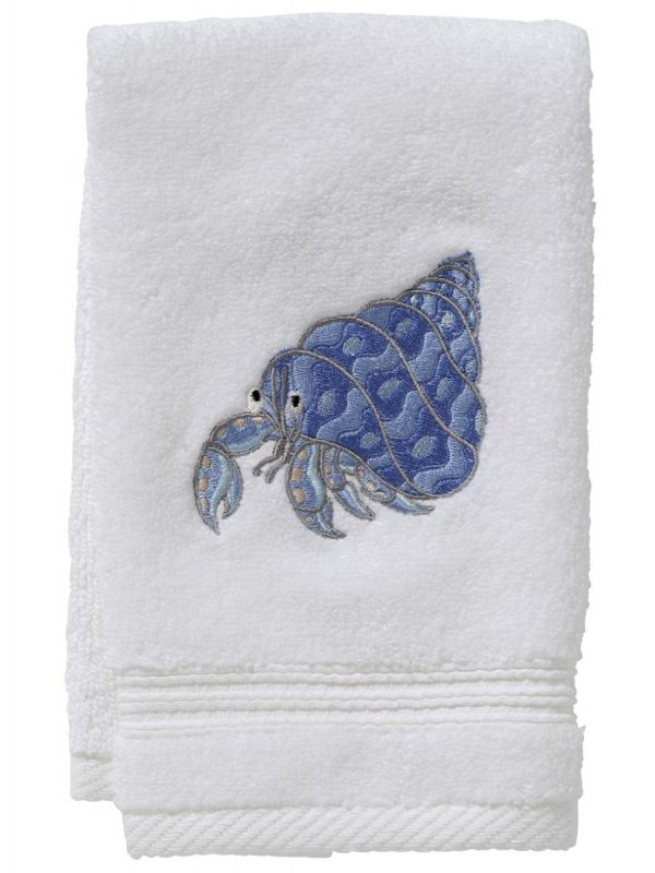 DG70-HCBL Guest Towel, Terry - Hermit Crab (Blue)