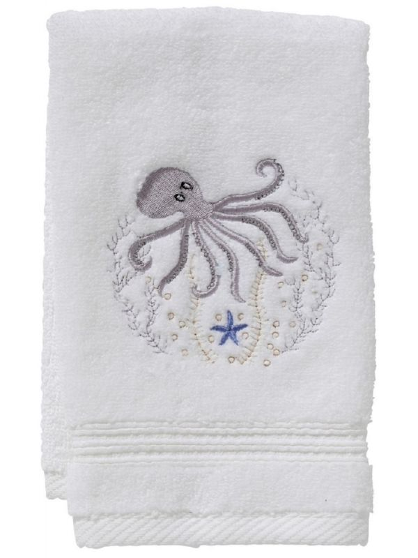 DG70-OCTPW Guest Towel, Terry - Octopus (Pewter)
