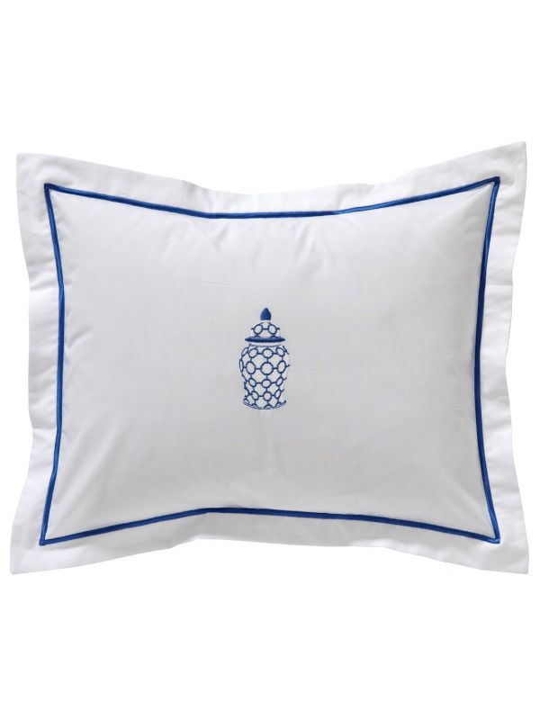 DG78-GJLBLBoudoir Pillow Cover - Ginger Jar Links (Blue)