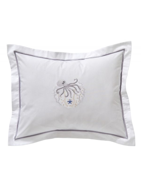 DG78-OCTPW Boudoir Pillow Cover - Octopus (Pewter)