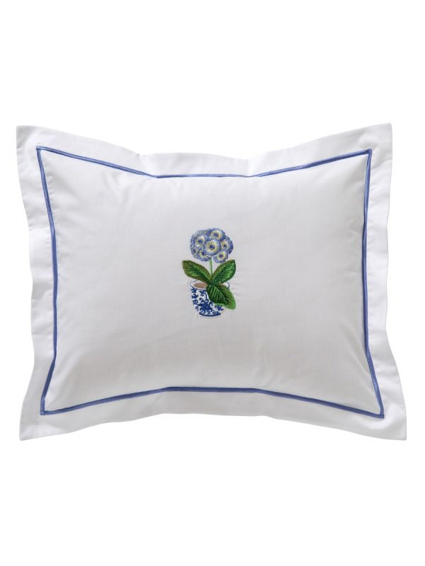 DG78-PPBL Boudoir Pillow Cover - Potted Primrose (Blue)