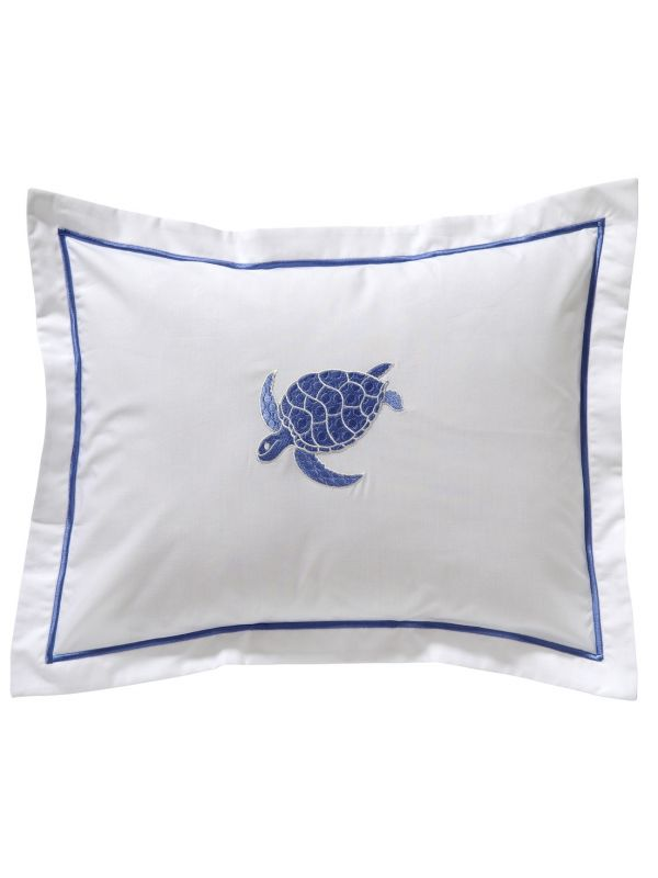 DG78-SSTBL Boudoir Pillow Cover - Swimming Turtle (Blue)