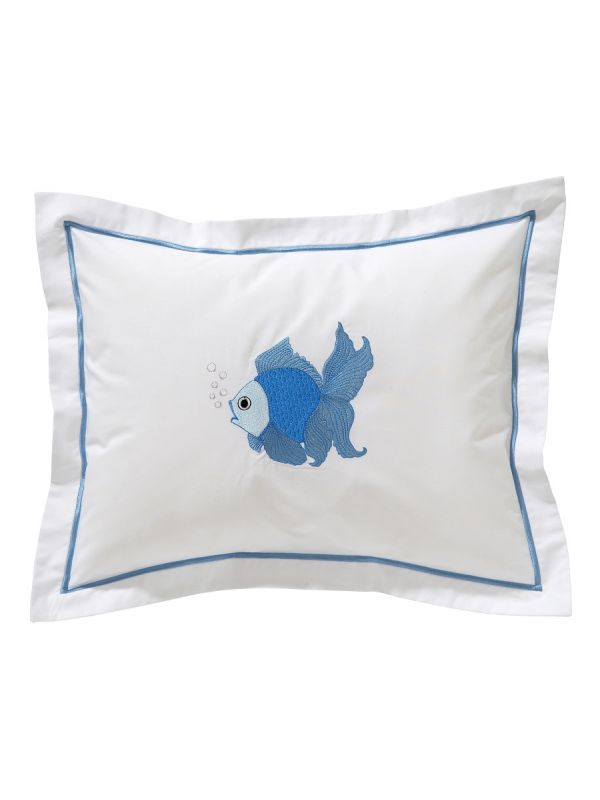 DG81-FTFBL Baby Boudoir Pillow Cover - Fantail Fish (Blue)