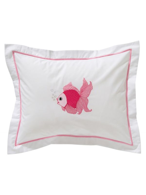 DG81-FTFPK Baby Boudoir Pillow Cover - Fantail Fish (Pink)