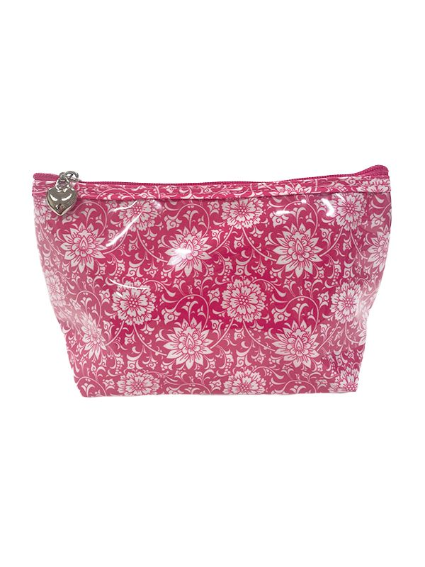 Cosmetic Bag (Small), Gerbera (Raspberry) - DN300-GBRA